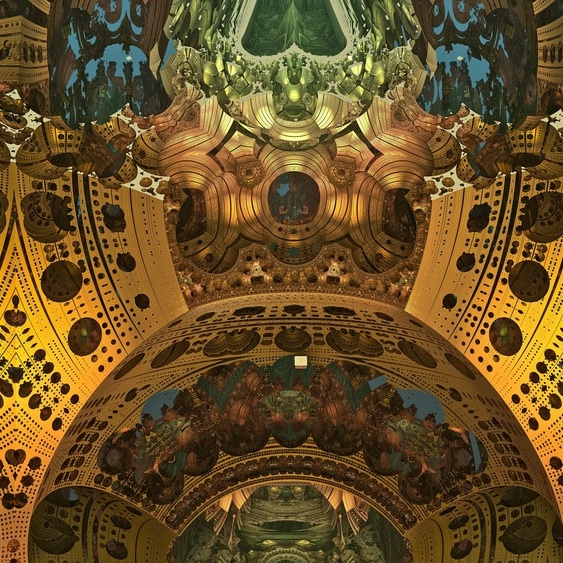 Mandelbulb 3D parameters: Cathedral with frescos