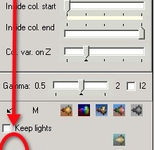 lighting parameters