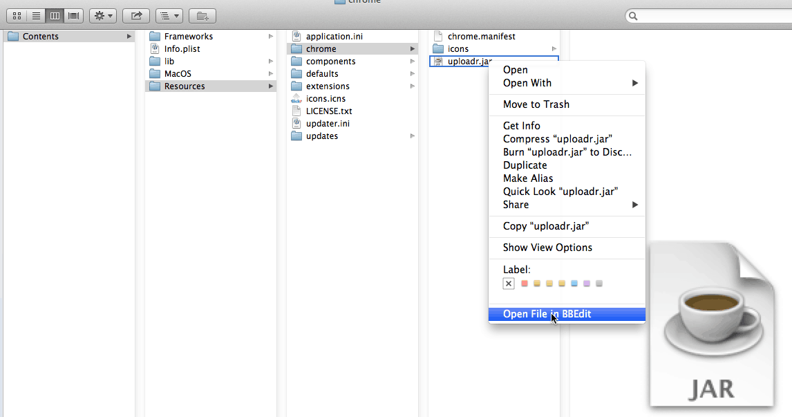 how to open bbedit file using chrome