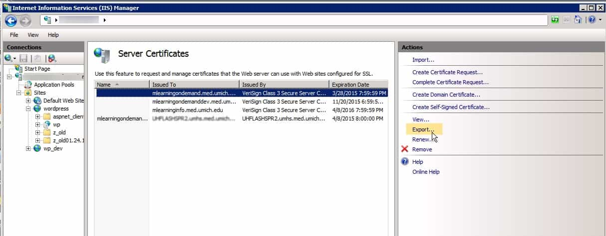 Iis 7 Error Cant Bind New Ssl Certificate To A Website