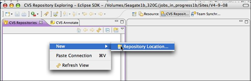 New :  Repository Location