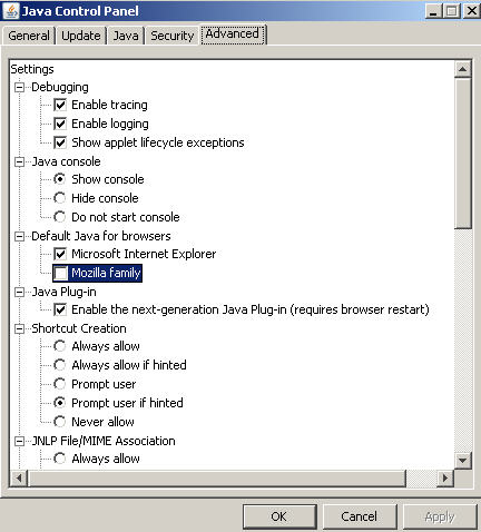When Firefox won't launch Java applets | TheDesignspace
