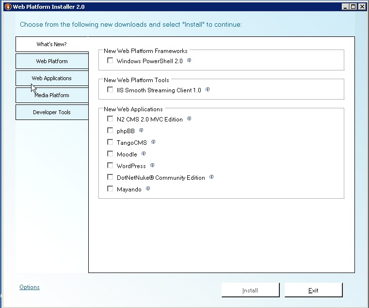 Microsoft Web Platform installer: Drupal on IIS, the easy way