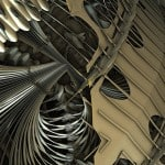 Mandelbulb 3D Parameter: Metallic Fountains